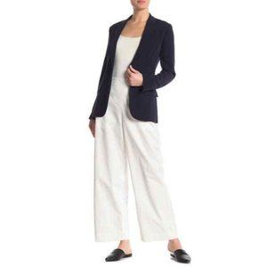 Theory White Cotton Wide Leg Pants S